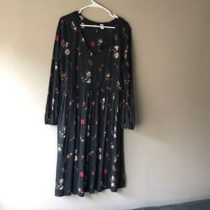 NWT Old Navy Black Floral Dress Size XL Vintage